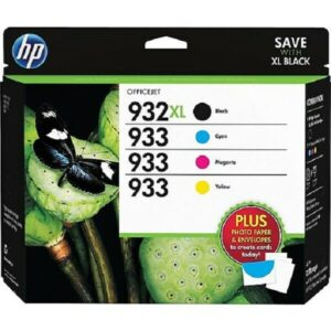hp cartridge 932 xl-933 + photo paper